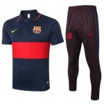 Maillot Polo Barcelone 2020-21 Navy blue rouge