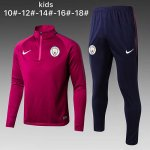 Enfant Survetement Manchester City 2017 2018 High Red