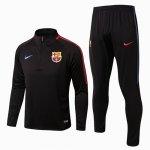 Survetement Barcelone 2017 2018 Black and red