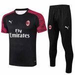 Maillot Survetement AC Milan 19-20 black red