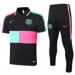 Maillot Polo Barcelone 2020-21 black pink Green