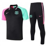 Maillot Polo Barcelone 2020-21 black Green pink