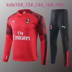 Enfant Survetement AC Milan 19-20 red