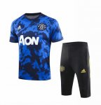 Maillot Survetement Manchester United 19-20 Bleu