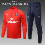 Enfant Survetement PSG 2017 2018 Red