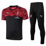 Maillot Survetement AC Milan 19-20 Red black