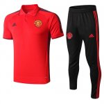 Maillot Polo Manchester United 19-20 red black