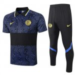 Maillot Polo Inter Milan 2020-21 Black blue